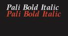 Pali Bold Italic