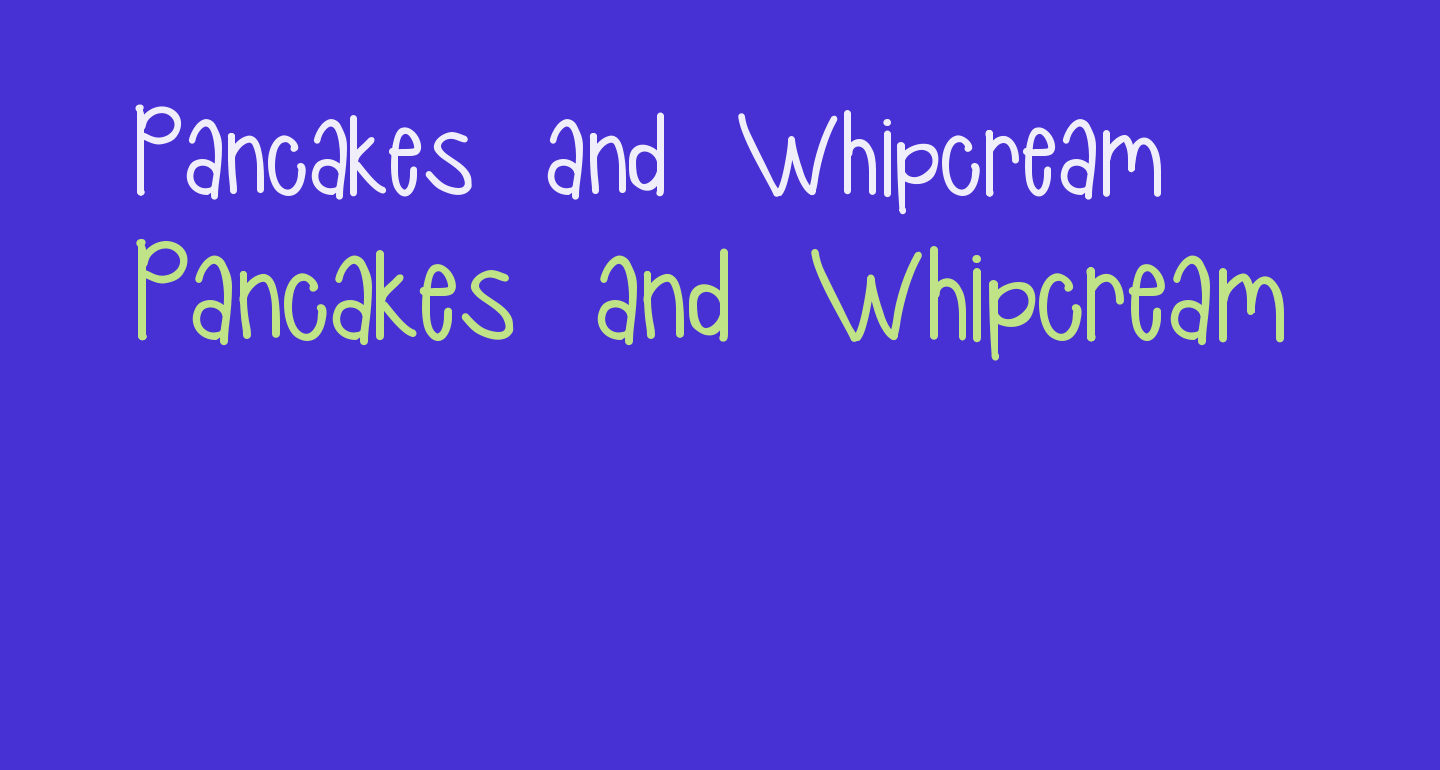 Pancakes and Whipcream