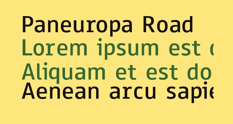 Paneuropa Road
