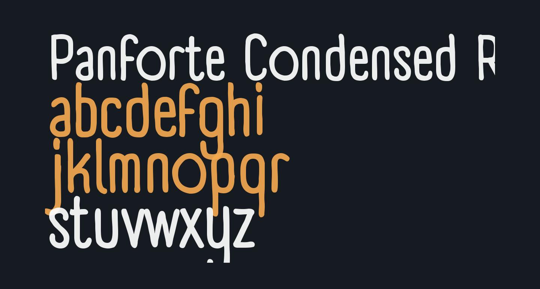 Panforte Condensed Regular