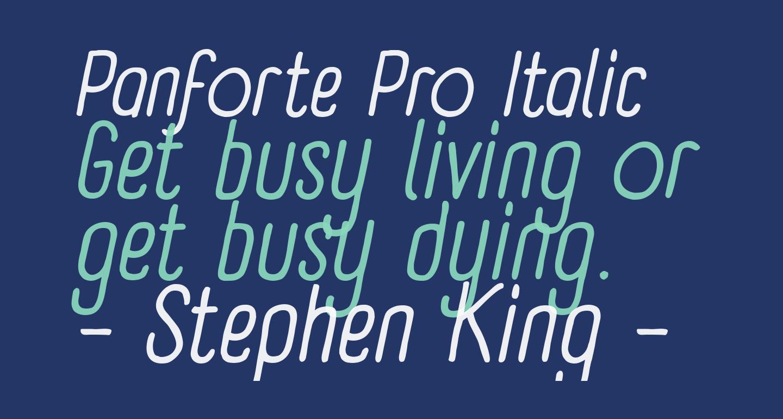 Panforte Pro Italic