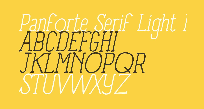 Panforte Serif Light Italic
