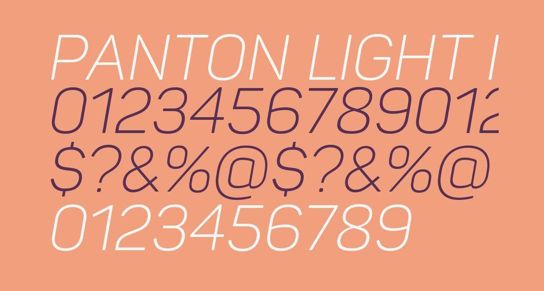 Panton Light italic Caps