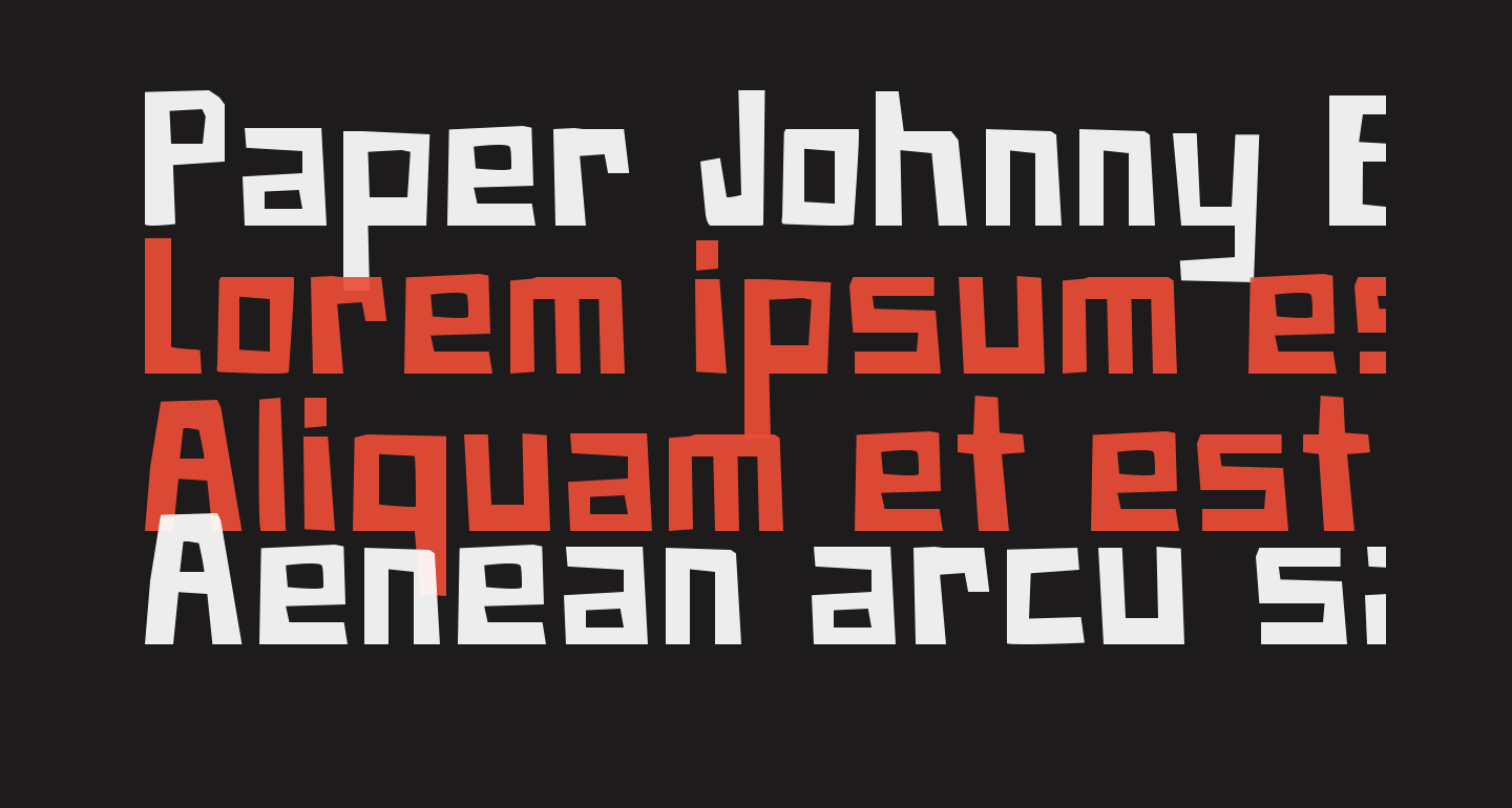 Paper Johnny Eins