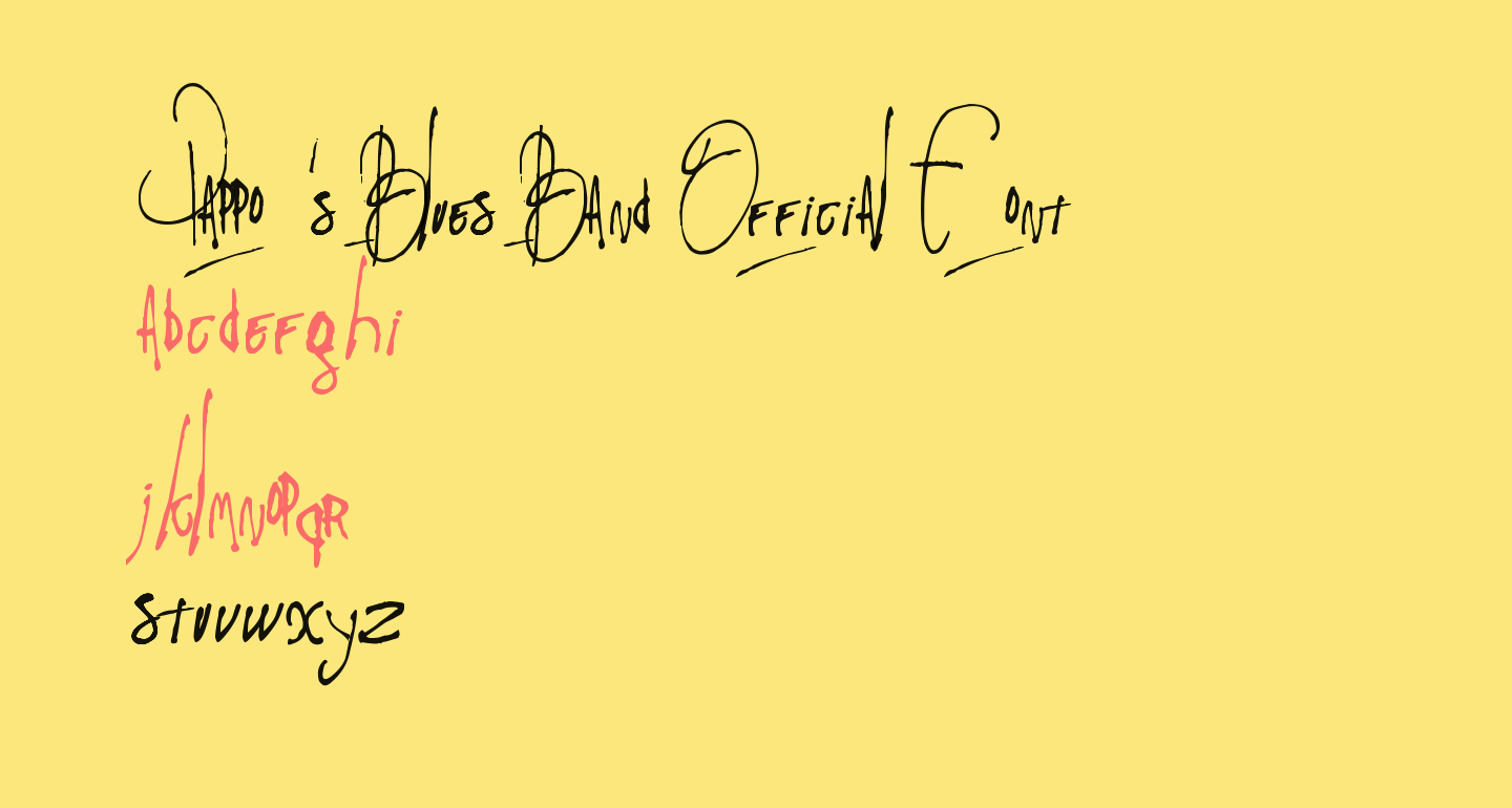 Pappo's Blues Band Official Font