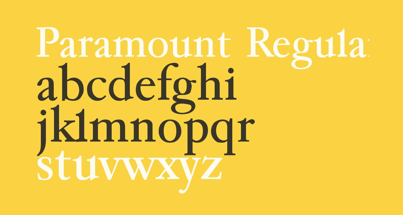 Paramount Regular