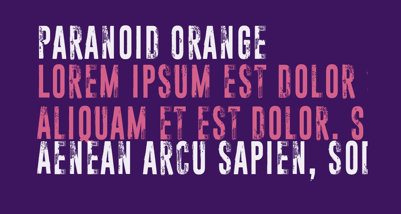 Paranoid Orange