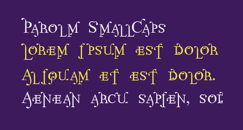 Parolm SmallCaps