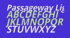 Passageway Light Italic