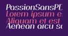 PassionSansPDaj-SemiBoldItalic