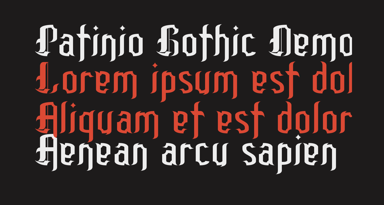 Patinio Gothic Demo