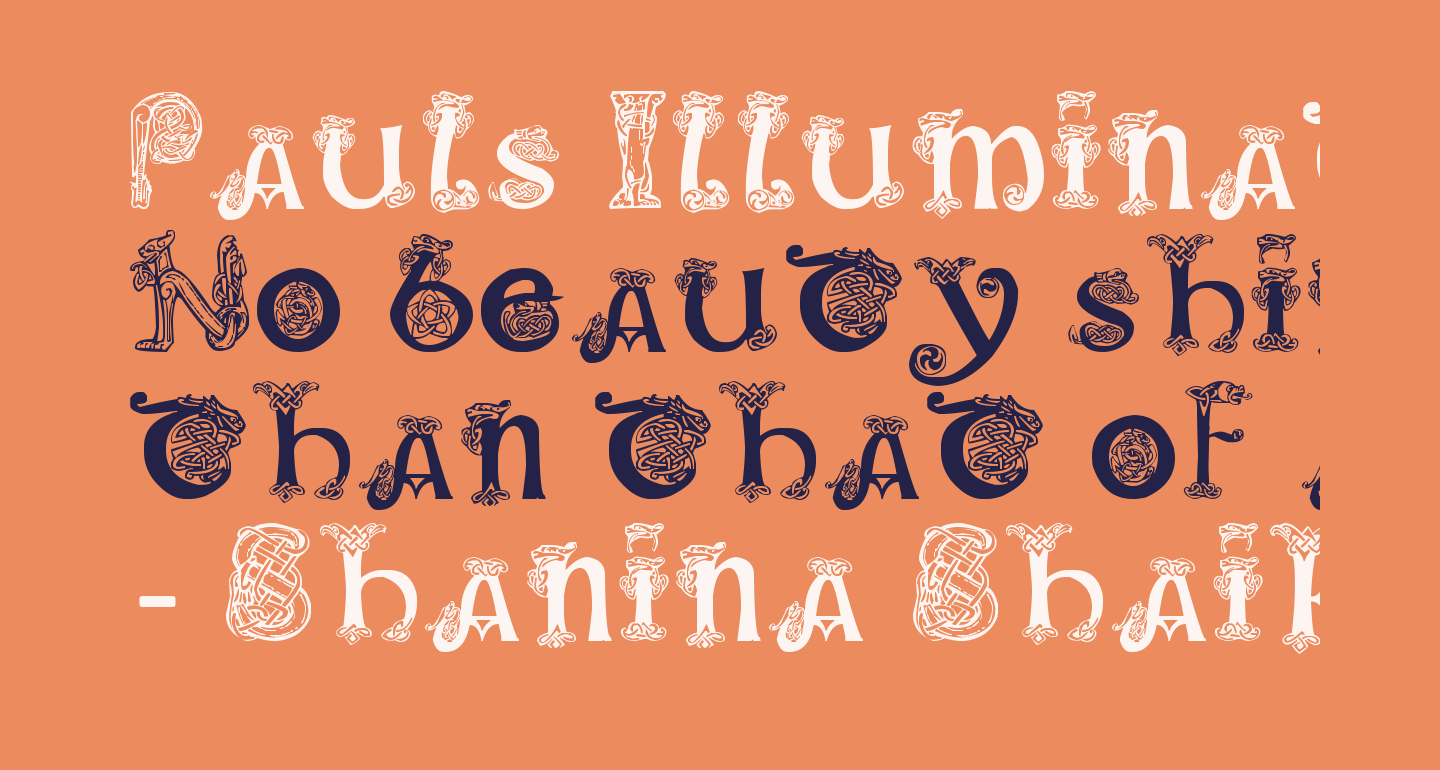 Pauls Illuminated Celtic Font