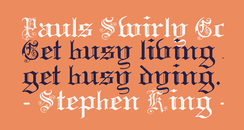 Pauls Swirly Gothic Font