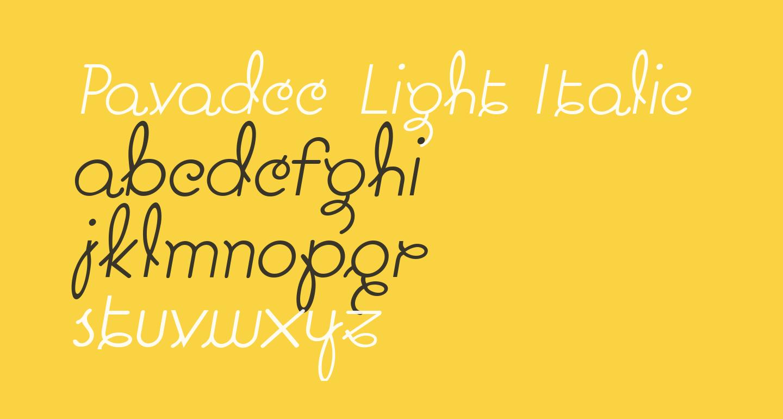 Pavadee Light Italic