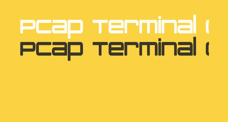 PCap Terminal Condensed Bold