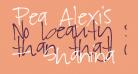 Pea Alexis