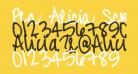 Pea Alicia Script