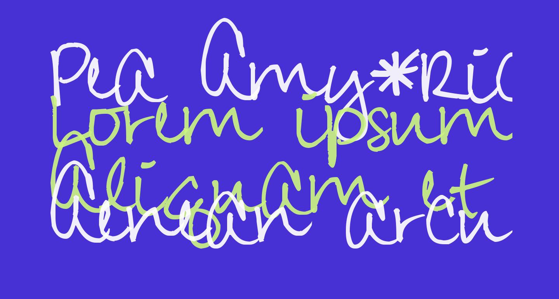 Pea Amy*Rica Script