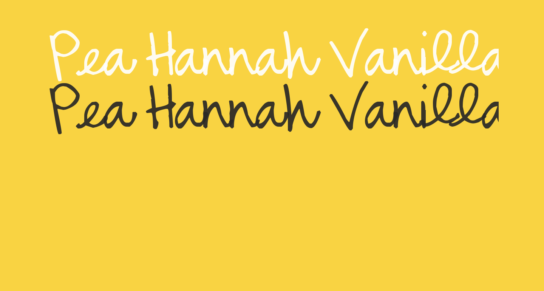 Pea Hannah Vanilla