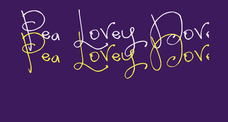 Pea Lovey Dovey