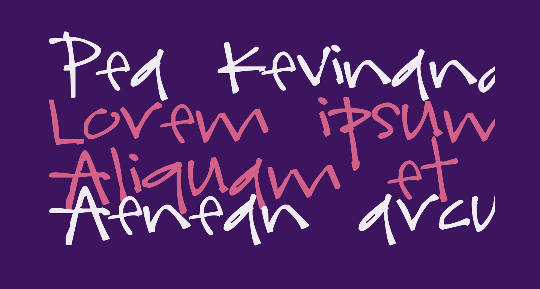 Pea kevinandamanda Handwriting