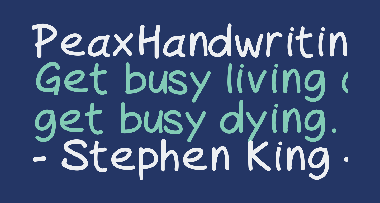 PeaxHandwritingbold