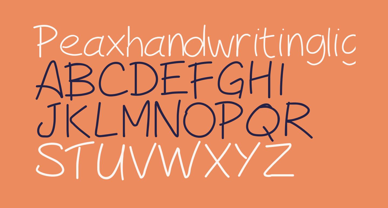 Peaxhandwritinglight