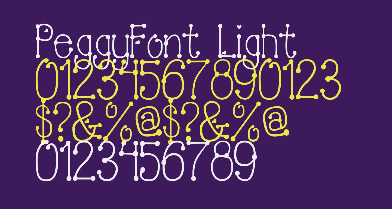 PeggyFont Light
