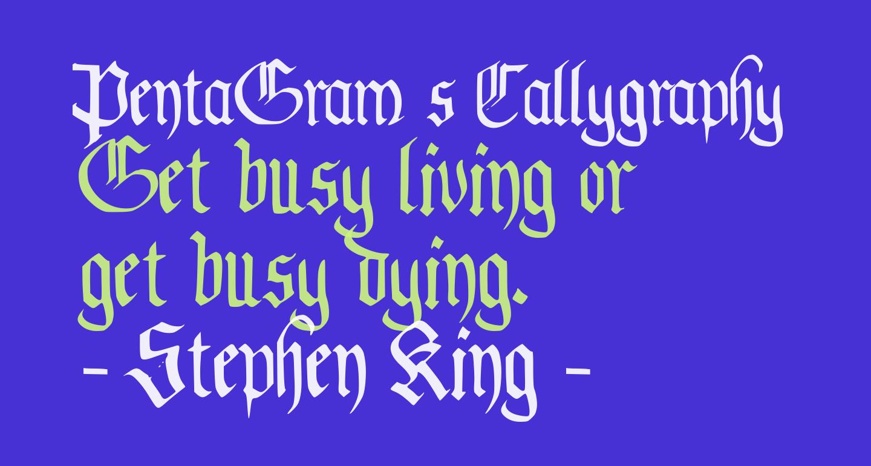 PentaGram s Callygraphy Regular
