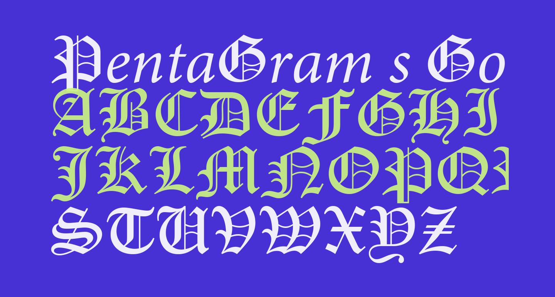 PentaGram s GothikaItalic