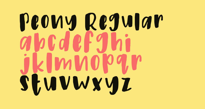 Peony Regular