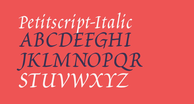 Petitscript-Italic