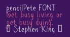 pencilPete FONT