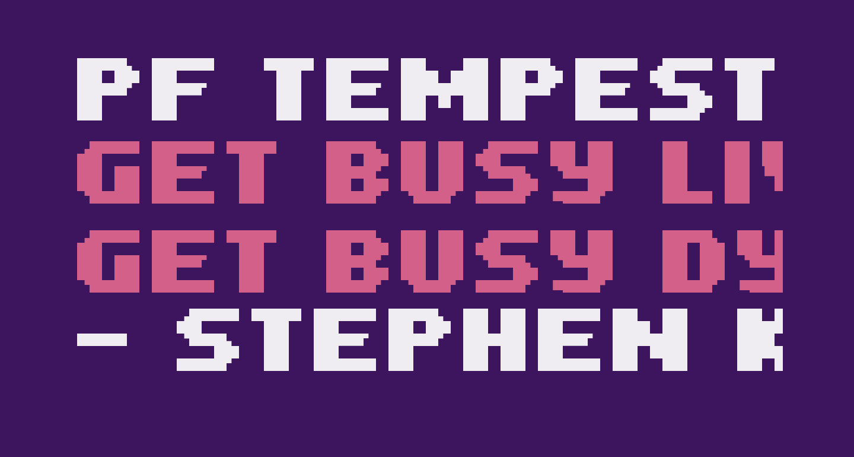 PF Tempesta Five Condensed Bold