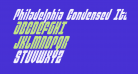 Philadelphia Condensed Italic