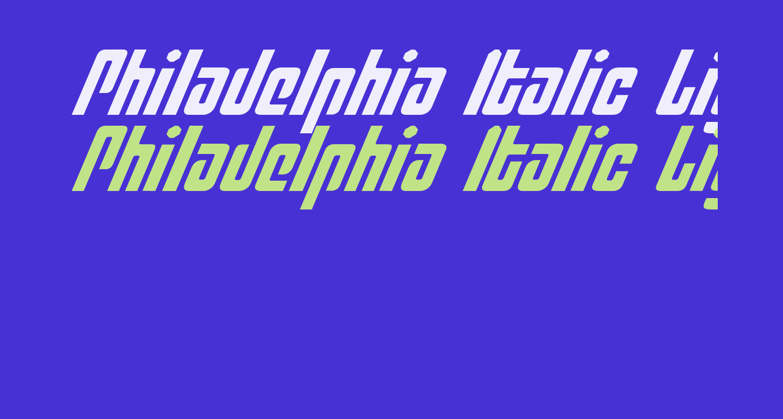 Philadelphia Italic Light