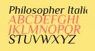 Philosopher Italic