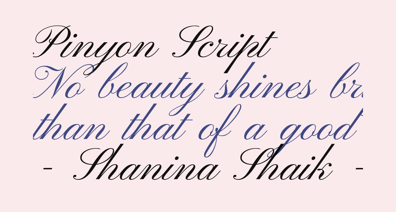 Pinyon Script