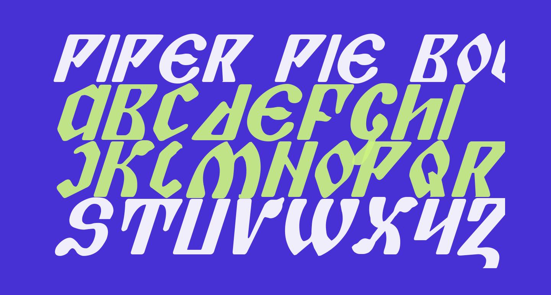 Piper Pie Bold Italic