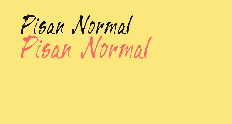 Pisan Normal
