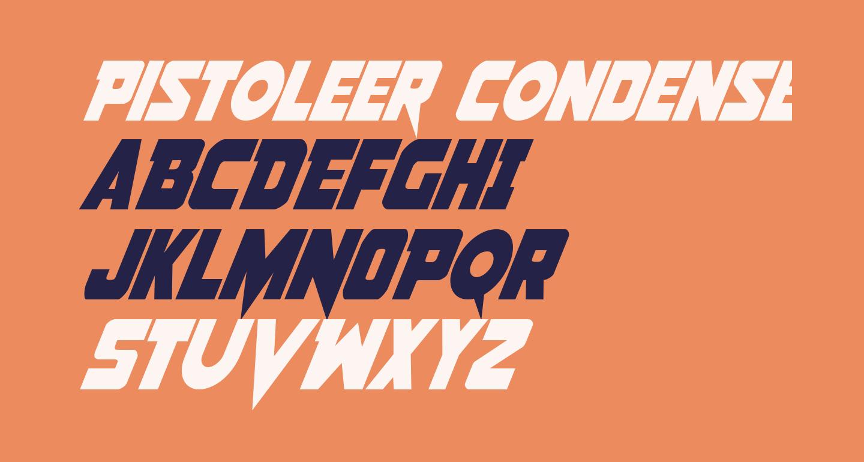 Pistoleer Condensed Italic