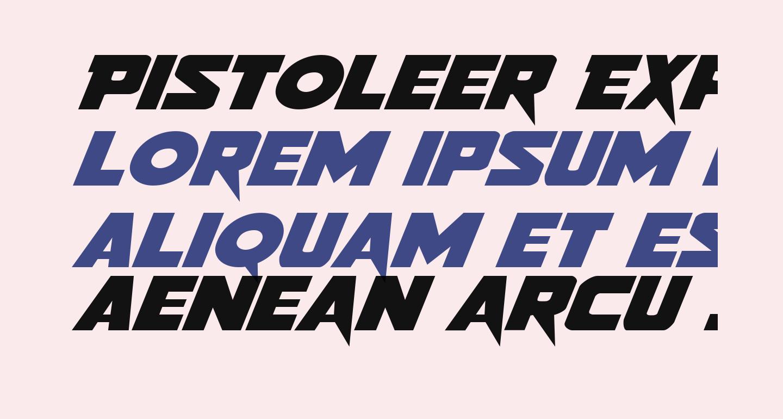 Pistoleer Expanded Italic