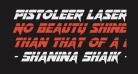 Pistoleer Laser Italic