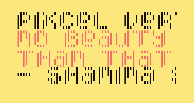 Pixcel Vertical Scan