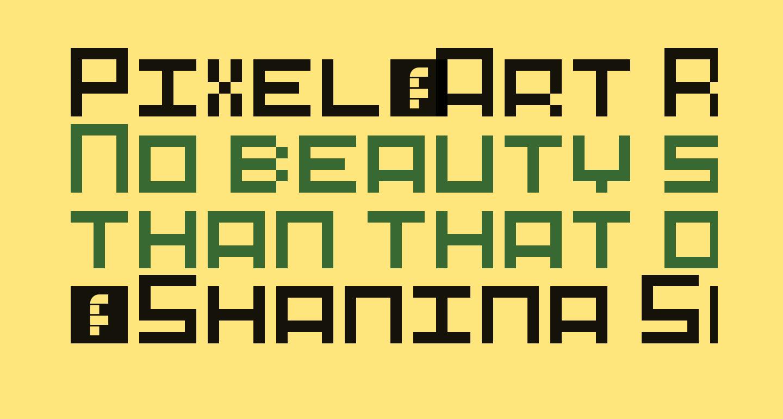 Pixel-Art Regular
