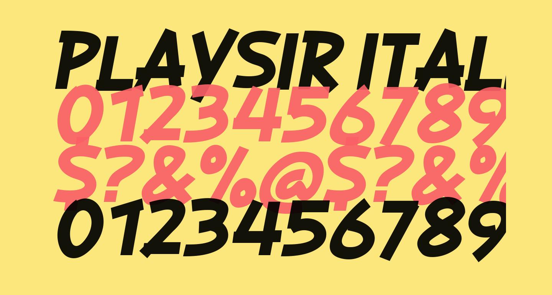 PLAYSIR Italic