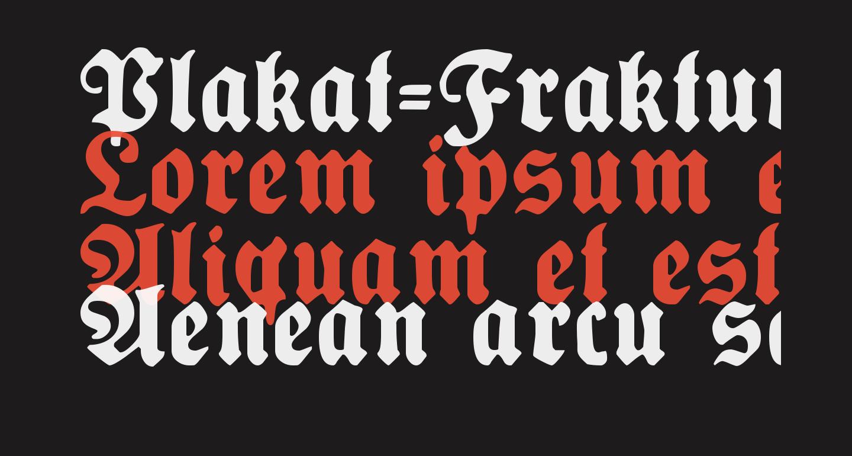 Plakat-Fraktur Black