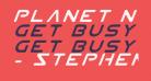 Planet N Italic