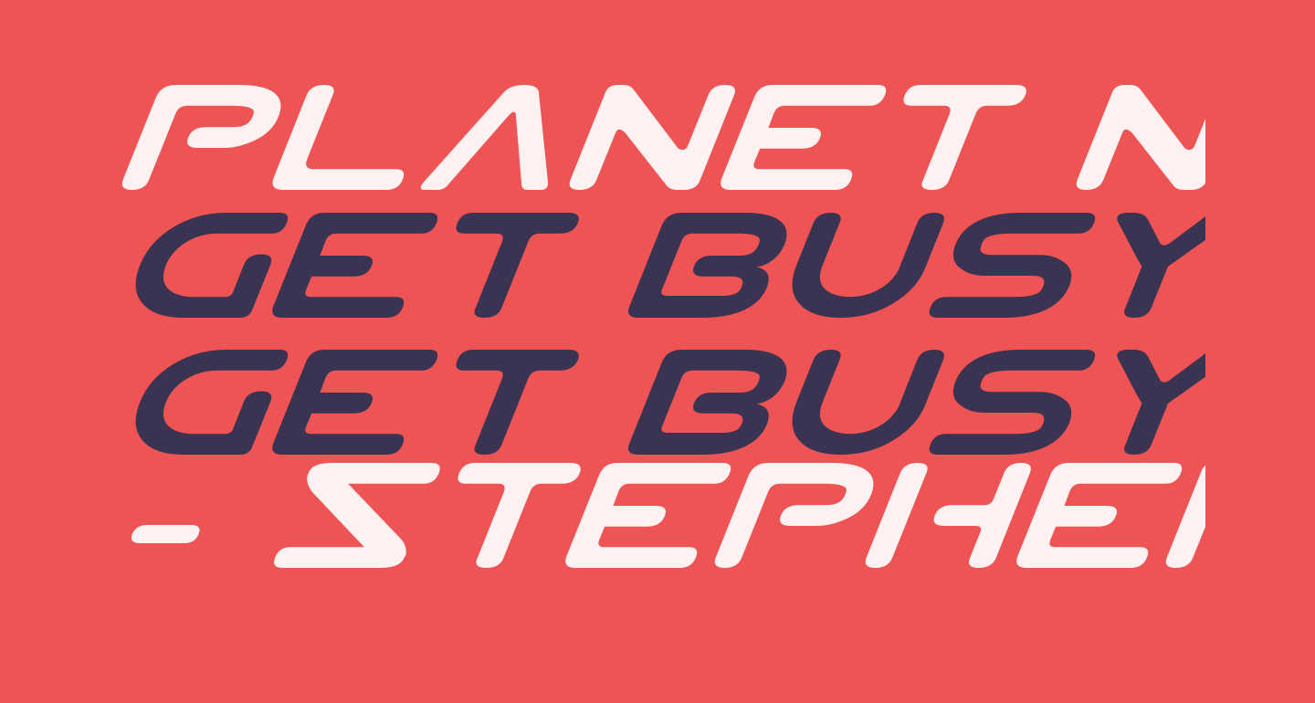 Planet NS Expanded Italic