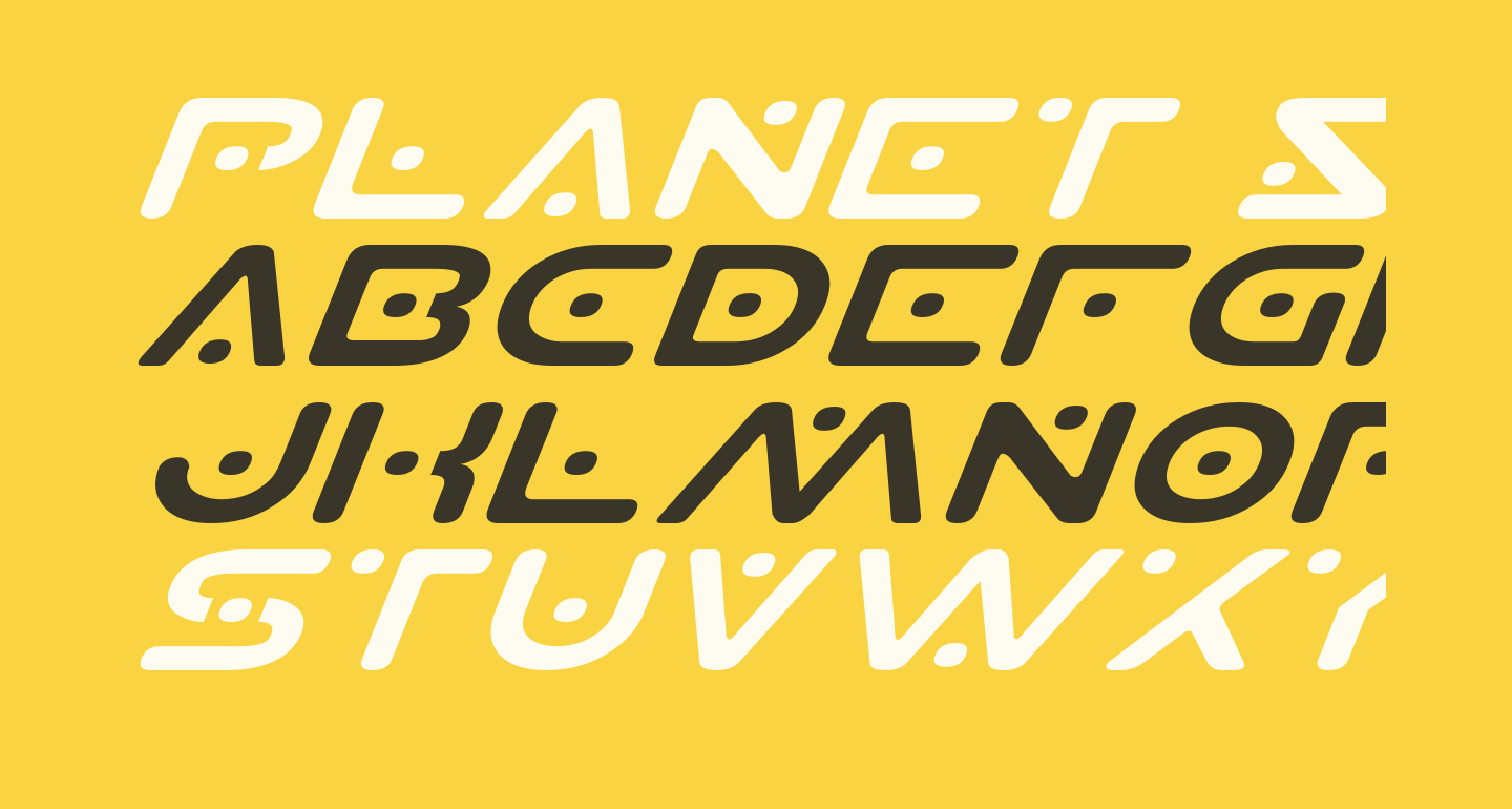 Planet S Expanded Italic